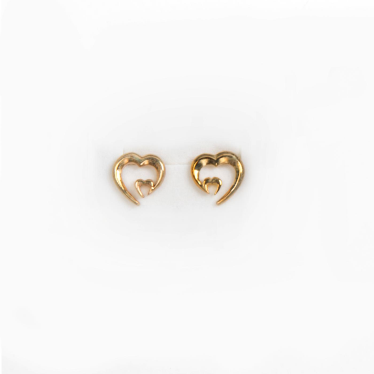 Heart Earrings 9ct Gold